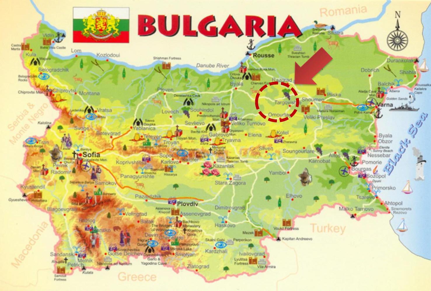 Карта несебра с отелями на русском языке